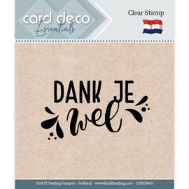 Card Deco Essentials - Clear Stamps - Dank je wel  CDECS043