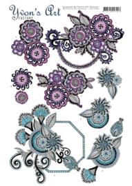 3D knipvel Yvon's Art Factory Flowery  CD11034