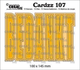 Crealies Cardzz BEDANKT (NL) CLCZ107 100x145 mm
