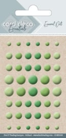 Card Deco Essentials - Enamel Dots Apple Green  CDEED008