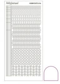 Hobbydots sticker  nr 16 - Adhesive White
