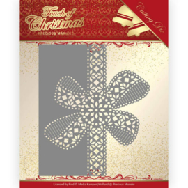 Dies - Precious Marieke - Touch of Christmas - Christmas Bow Border  PM10183  Formaat ca. 12,5 x 10,6 cm