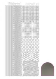 Hobbydots sticker - Mirror - Silver nr.1