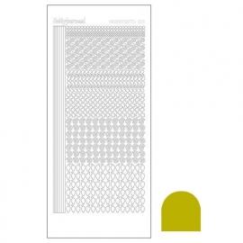 Hobbydots sticker - Mirror Yellow  nr.19