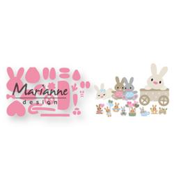 COL1463 - Eline's baby bunny  19 pcs, 65 mm