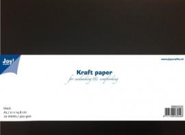 8089/0242 Kraftpapier 300gr - zwart A5  10 vel