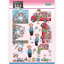 3D Cutting Sheet - Yvonne Creations - Bubbly Girls Professions - Catering CD11663