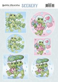 Scenery - Yvonne Creations - Happy Frogs  CDS10022