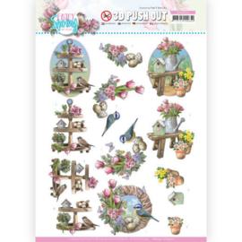 3D Push Out - Amy Design - Enjoy Spring - Spring Decorations SB10541 - HJ19301