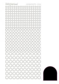 Hobbydots sticker serie 8 - Adhesive - Black