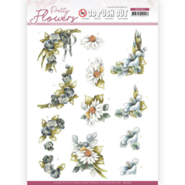3D Push Out - Precious Marieke - Pretty Flowers - Blue Flowers SB10500