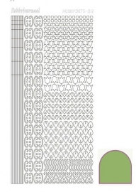 Hobbydots sticker  nr 12- Mirror - Lime