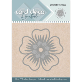 Card Deco Essentials - Mini Dies - Flower CDEMIN10006  Formaat ca. 4,5 x 4,3 cm