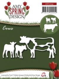 ADD10043 Die - Amy Design - Spring - Cows