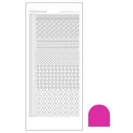 Hobbydots sticker - Mirror Pink  nr.19