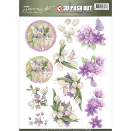 Pushout - Jeanine's Art - With Sympathy - violet flowers   SB10178