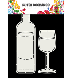 470.713.831 - Card Art Wine Bottle and Glass