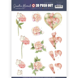 3D Push Out - Jeanine's Art - Sensitive Moments - Calla Lily SB10472