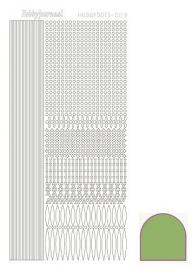 Hobbydots sticker nr 3 - Mirror - Lime