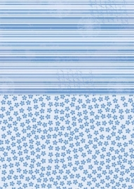 NEVA015 background sheets A4 blue flowers