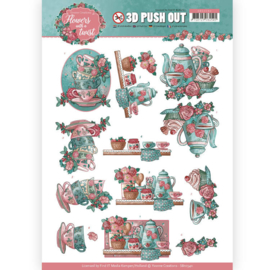 3D Pushout - Yvonne Creations - Flowers with a Twist - Tea Time   SB10340