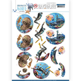 3D Push Out - Amy Design - Underwater World - Deepsea Diving  SB10454