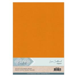 Linen Cardstock - A4 - Tangerine 66
