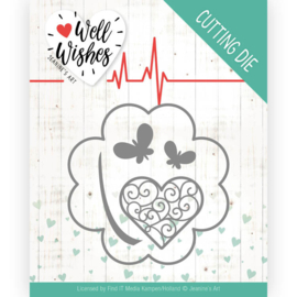 Dies - Jeanine's Art - Well Wishes - Lucky Clover JAD10091 Formaat ca. 8,2 x 8,2 cm