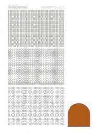 Hobbydots sticker - Mirror Brown 7
