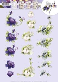 3D knipvel Precious Marieke - Spring flowers   CD10992
