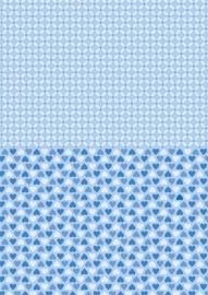 NEVA011 background sheets A4 blue hearts