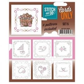 Stitch & Do - Cards only - set 5