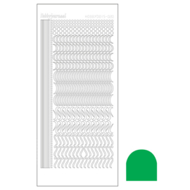Hobbydots sticker 20 - Mirror Green