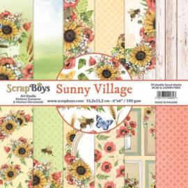ScrapBoys Sunny Village paperpad 24 vl+cut out elements-DZ SUVI-09 190gr 15,2 x 15,2cm