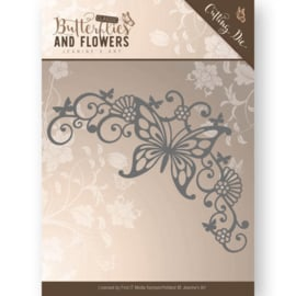 Die - Jeanine's Art - Classic Butterflies and Flowers - Butterfly Corner  JAD10023