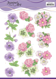 3D cutting sheet - Jeanine's Art - Summer Flowers  CD11334