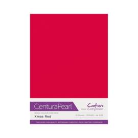Centura Pearl enkelzijdig a 1 Vel - Kerst rood CP10-XRED