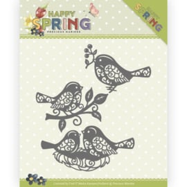 Dies - Precious Marieke - Happy Spring - Spring Birds PM10150  ca. 8,8 x 8,7 cm.