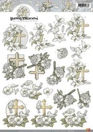 3D A4 knipvel - Yvonne Creations - Condoleance CD10204
