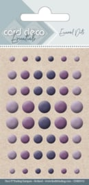 Card Deco Essentials - Enamel Dots Purple  CDEED011