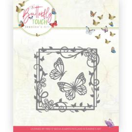 Dies - Jeanine's Art - Butterfly Touch - Butterfly Square  JAD10122  Formaat ca. 10 x 10 cm