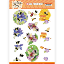 3D Push Out - Jeanine's Art - Humming Bees - Honey  SB10557