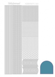 Hobbydots sticker  nr 1  - Mirror - Turquoise