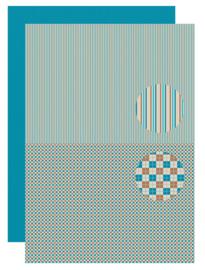 Background sheet - Men-things - Squares  neva086