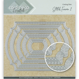 Card Deco Essentials Cutting Dies Stitch Frame 2  CDECD0034 ca. 14 x 10 cm (5-delig)