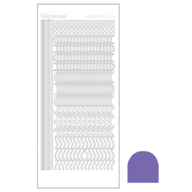 Hobbydots sticker 20 - Mirror Purple
