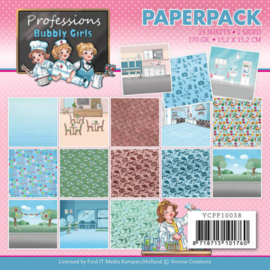 Paperpack - Yvonne Creations - Bubbly Girls - Professions  YCPP10038