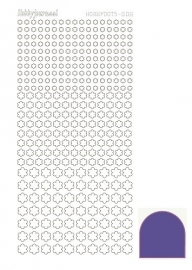 Hobbydots sticker serie 8 - Mirror - Purple