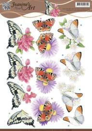 3D knipvel Jeanine's Art - Butterflies   CD10933