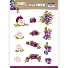 3D Push Out - Precious Marieke - Romantic Roses - Purple Rose SB10517